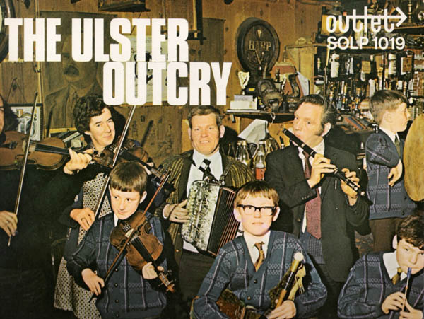 The cover of an album called The Ulster Outcry and the group is called 'Ar Leitheidi' or 'the likes of us'